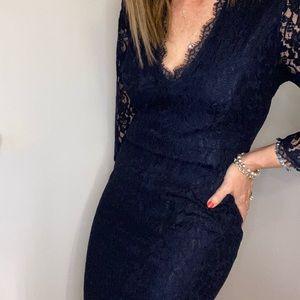 Babaton size 10 beautiful blue Rafael lace dress